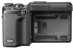 Kamerahuset Ricoh GXR uten utskiftbar modul.