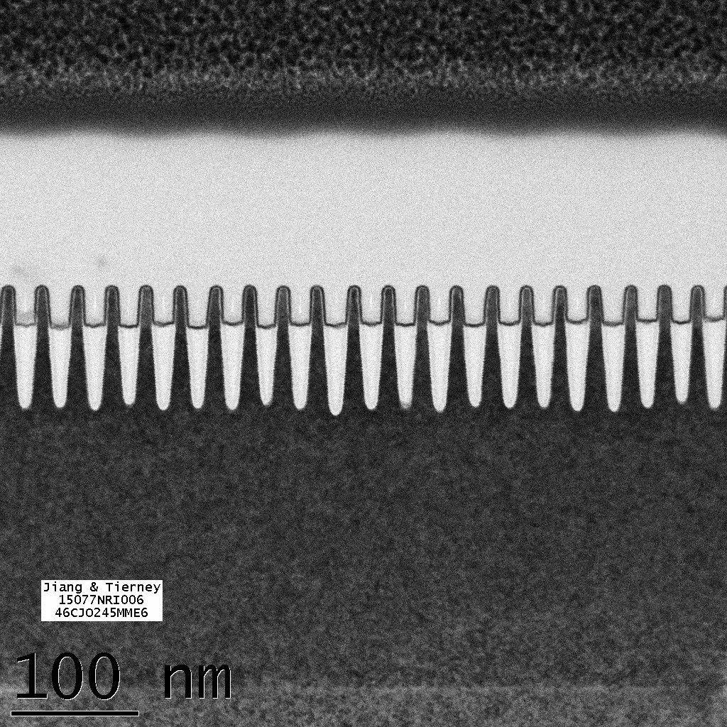 IBMs 7-nanometernoder. Det begynner å bli trangt om plassen. Bilde: IBM Research