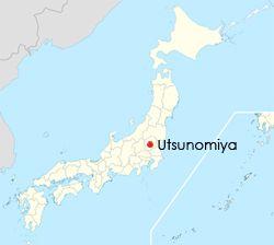 Den rammede Canon-fabrikken lå i byen Utsunomiya.