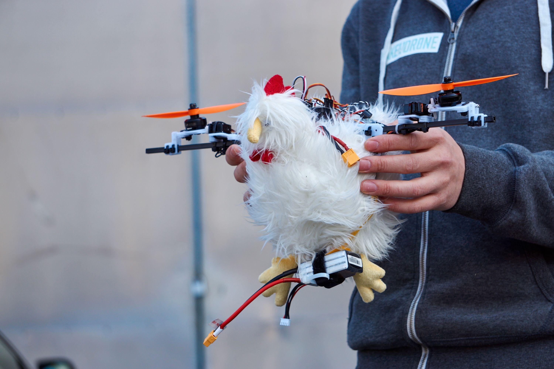 Turid – den flygende drone-høna.
