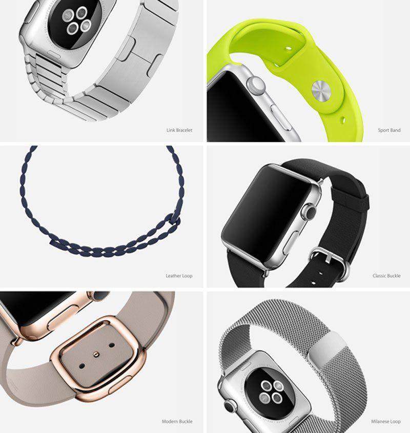 Apple har designet et stort antall klokkeremmer til Apple Watch. Foto: Apple