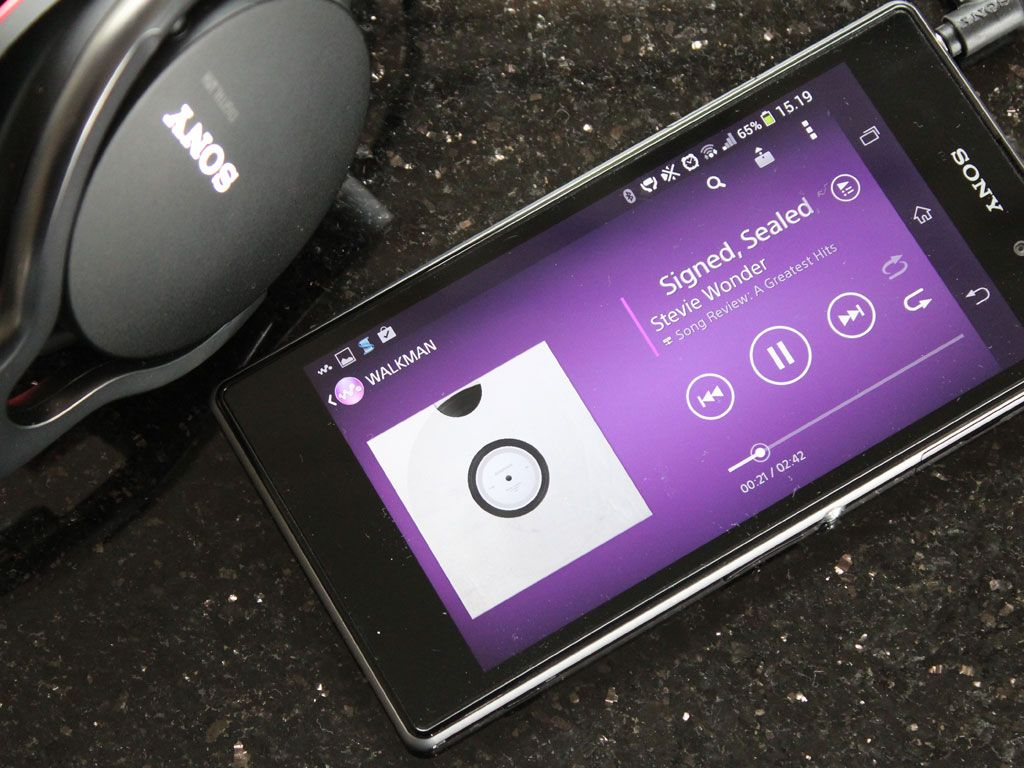 Musikk-appen fra Sony er den velkjente Walkman-spilleren. Lyden er upåklagelig.Foto: Espen Irwing Swang, Amobil.no