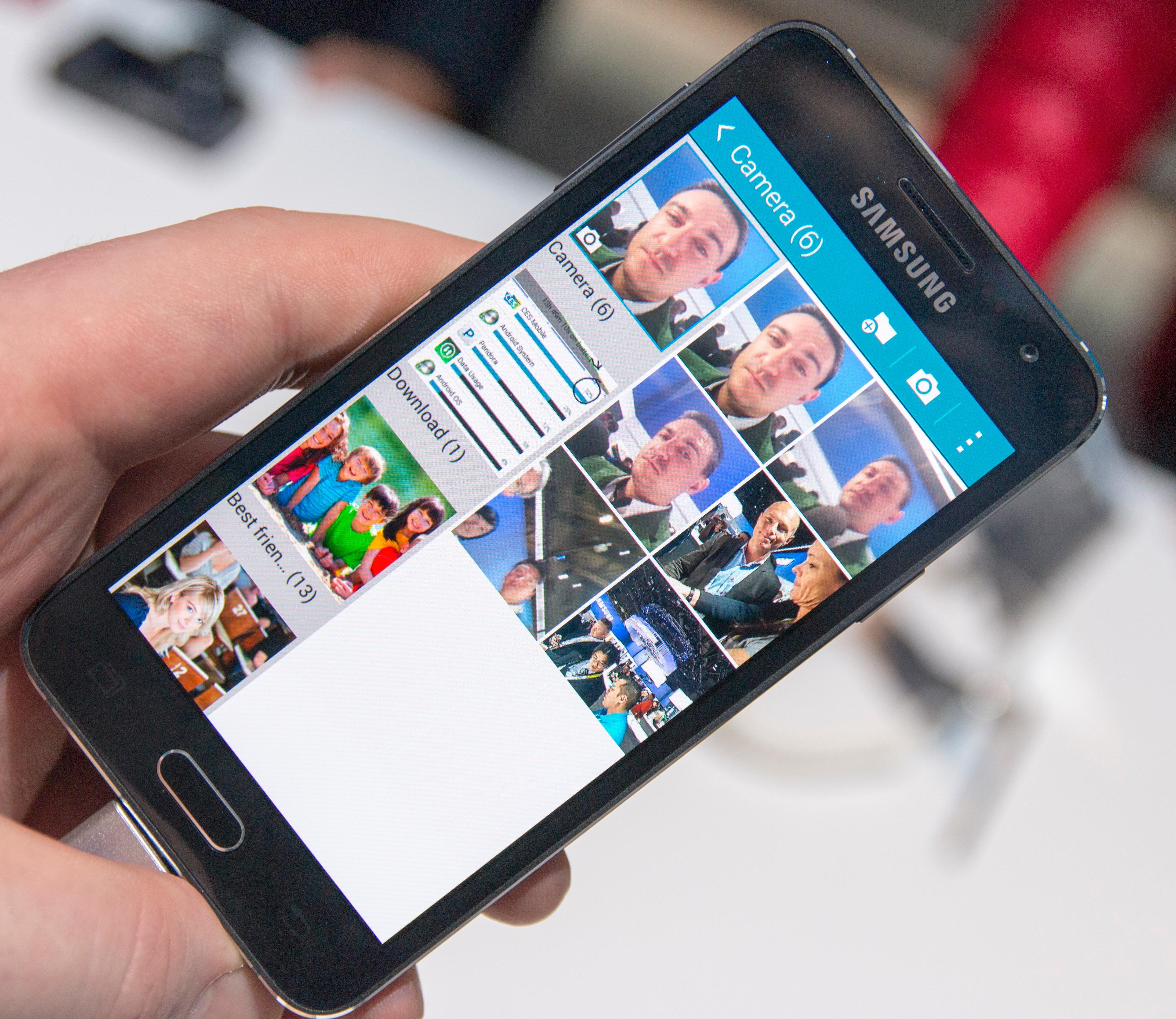 Fotogalleriet har ofte vært ett av stedene tregheter har dukket opp i Samsung-telefoner. Da vi startet appen på Galaxy A3 gikk det hele fort og greit. Foto: Finn Jarle Kvalheim, Tek.no