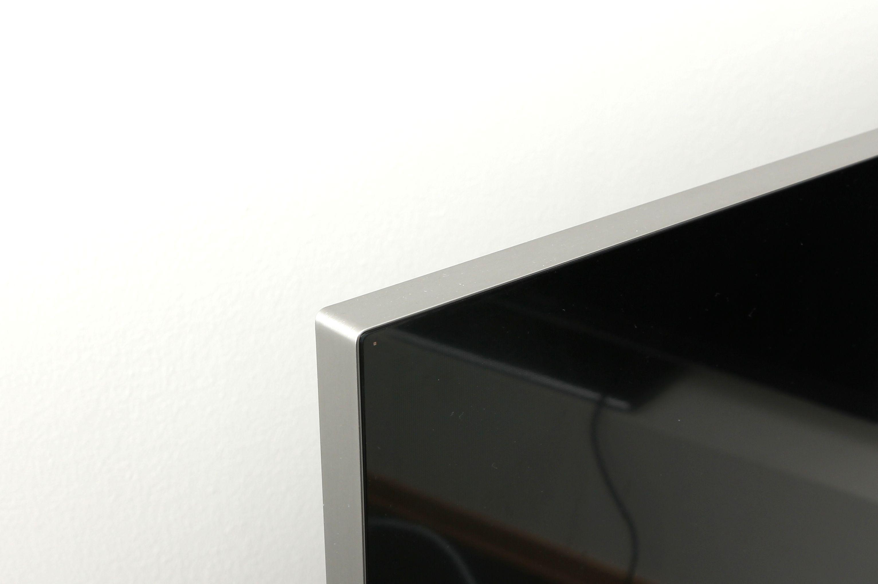 Ikke stor ramme på denne TV-en.Foto: Roy Arne Christiansen, Hardware.no