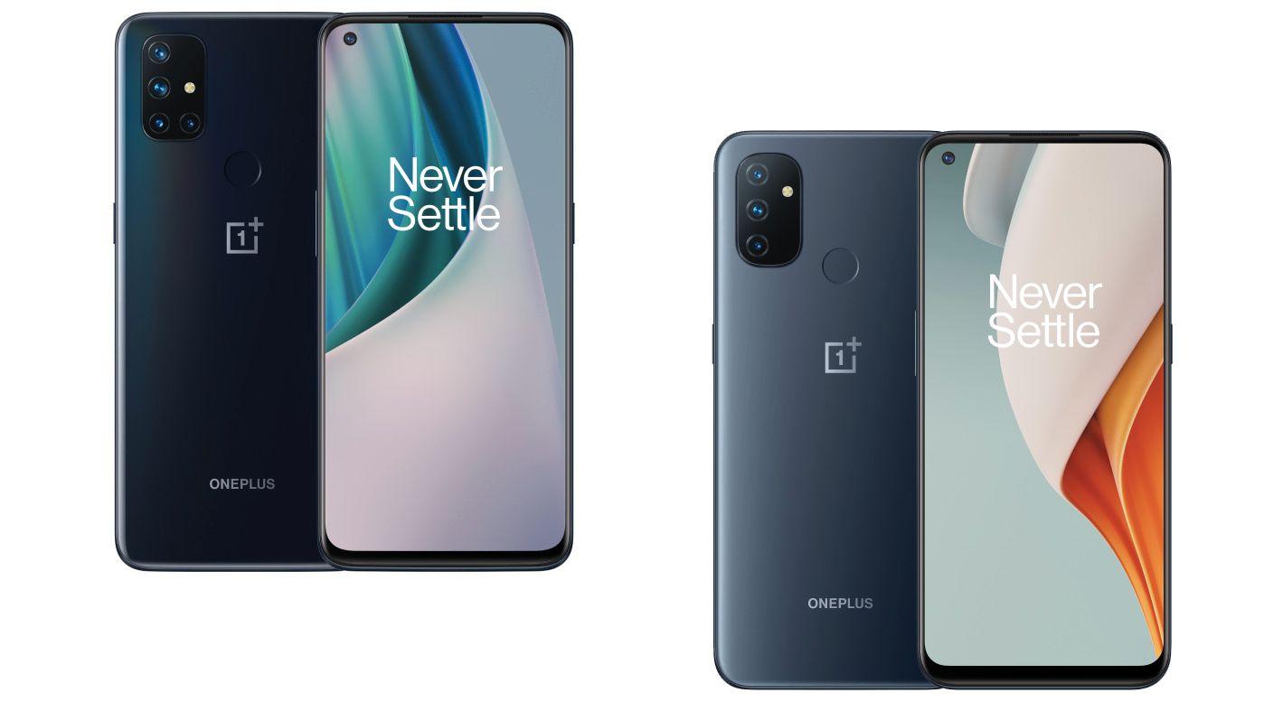 OnePlus lanserer to nye Nord-mobiler: N10 (til venstre) og N100.