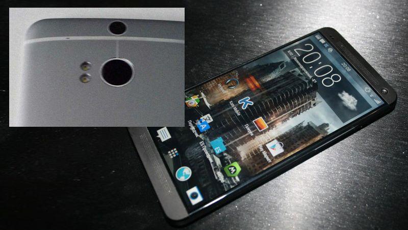 HTC M8 vil ifølge ryktene få dobbelt kamera, slik at du kan fokusere bildene dine etter å ha tatt dem.Foto: @htcfamily_ru / Mobiltelefon.ru