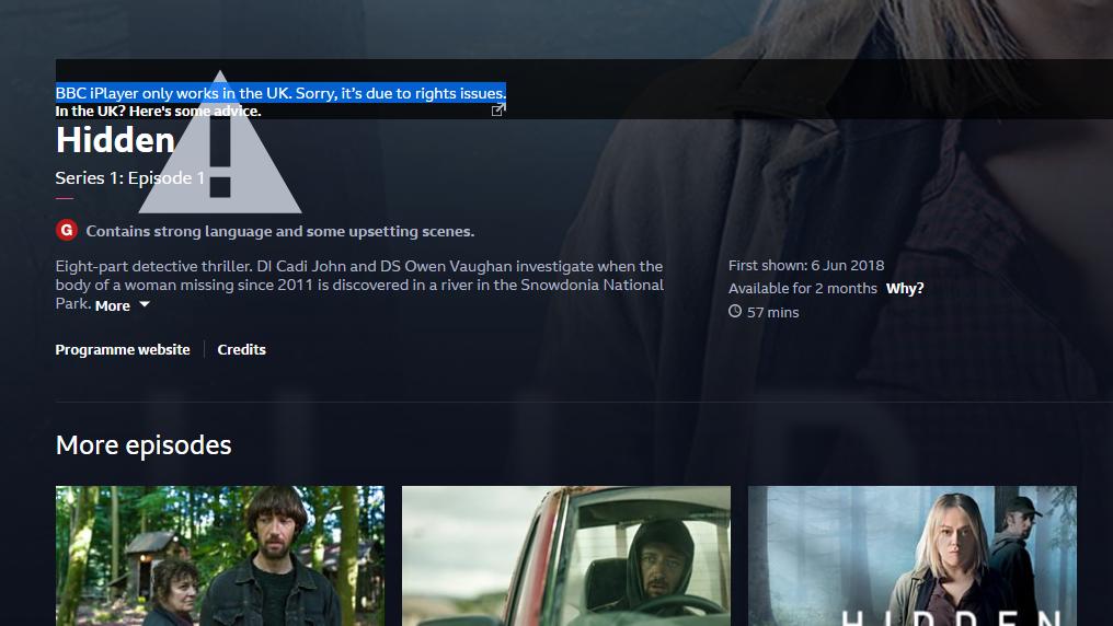 Først så BBC slik ut, selv med VPN...