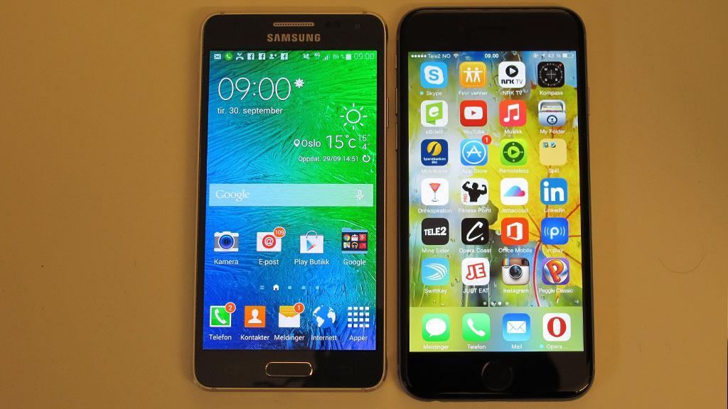 iPhone 6 er blant alternativene med samme skjermstørrelse og toppspesifikasjoner. Men den er både større og dyrere.Foto: Espen Irwing Swang, Tek.no