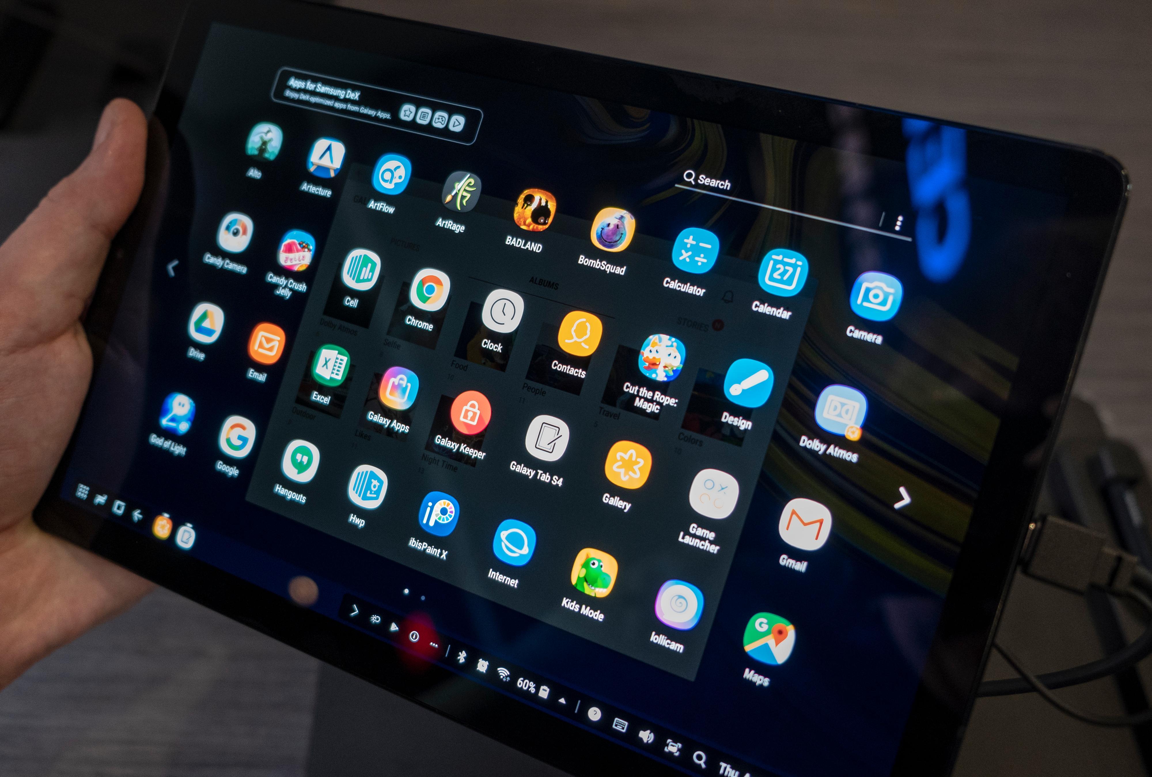 DeX-modusen er faktisk særdeles god som alternativt menysystem på et nettbrett. Kanskje er det denne typen løsninger som vil berge Android-brettene i kampen mot iPad?