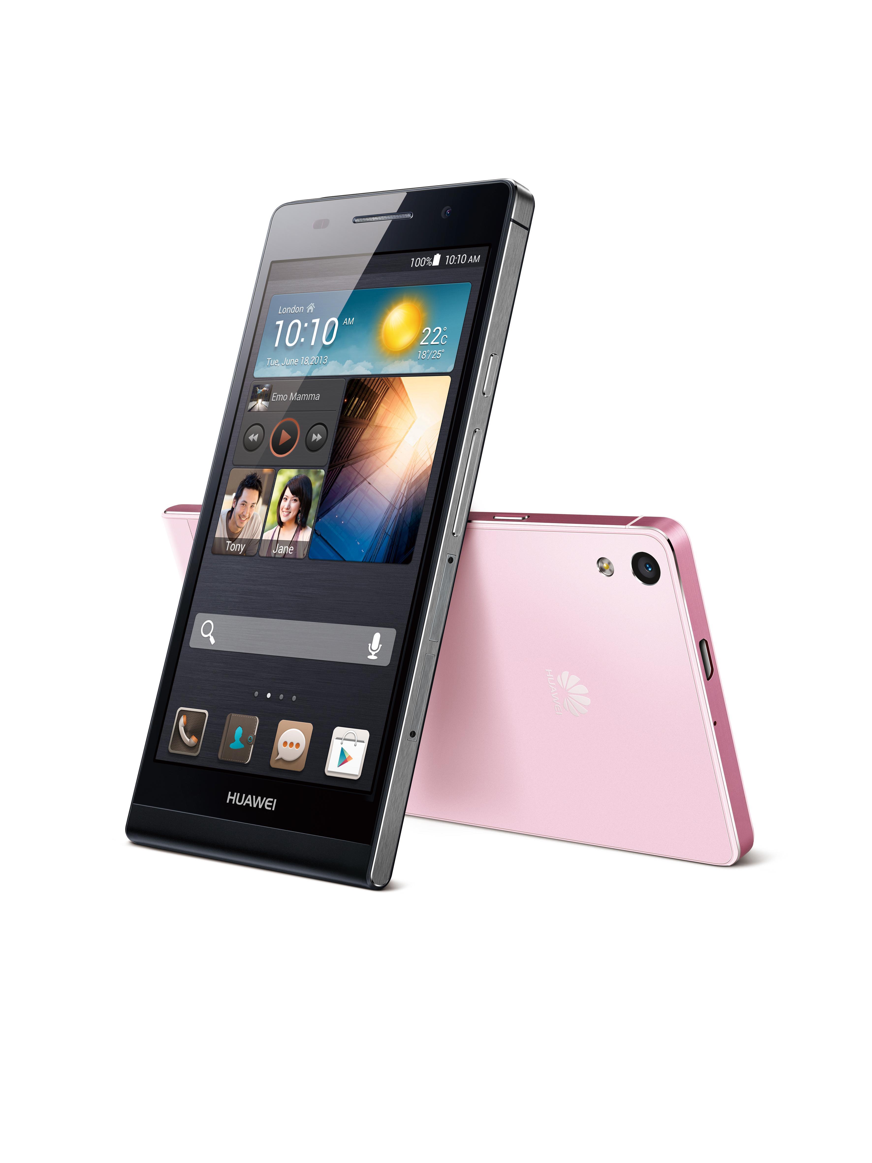 Nye Huawei Ascend P6 er svært tynn.