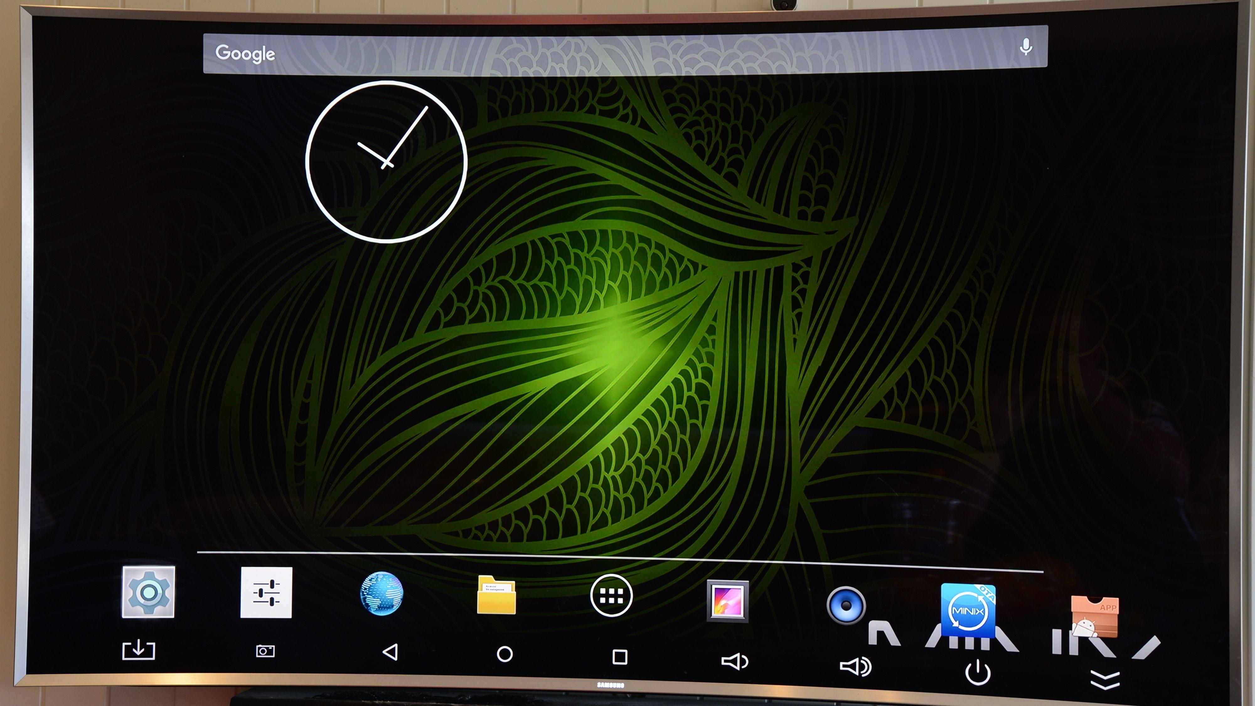 Startsiden du kommer til minner deg raskt om en hvilken som helt Android-startskjerm.