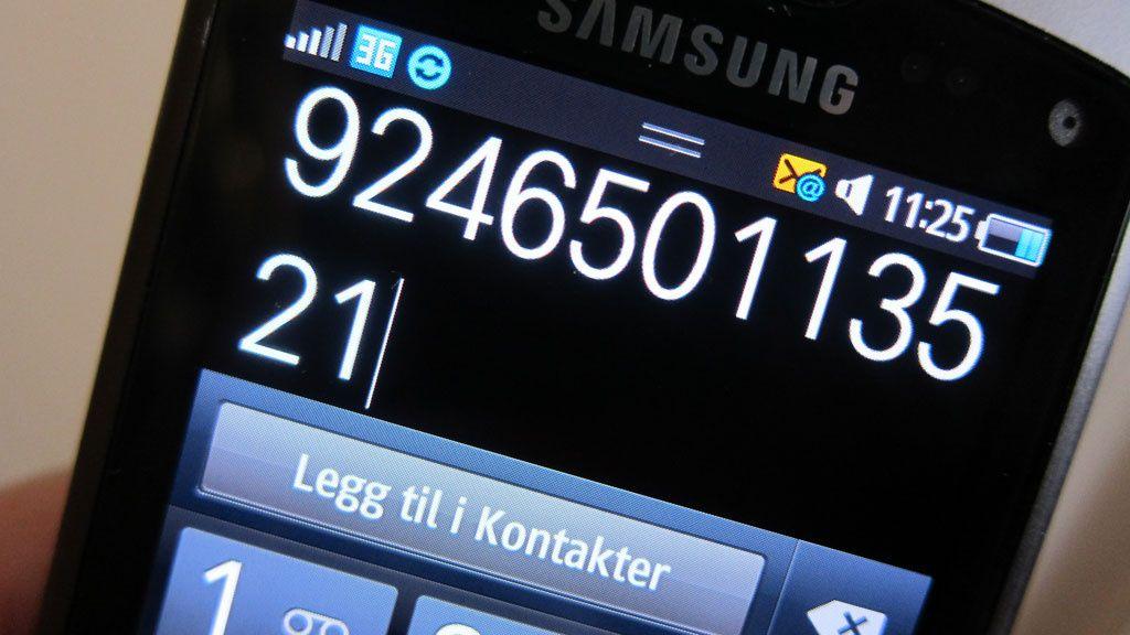 Nå kommer de 12-sifrede mobilnumrene