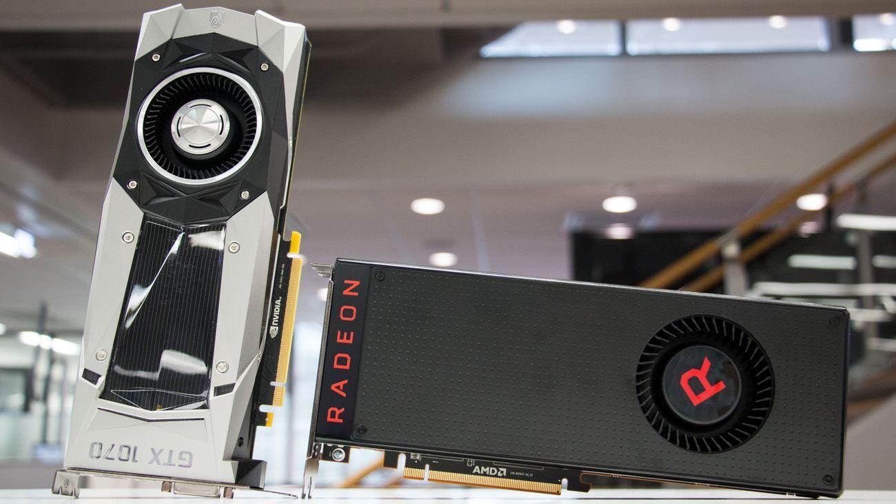 GTX 1070 og Vega 56 er omtrent like kraftige, og selges omtrent like billig.