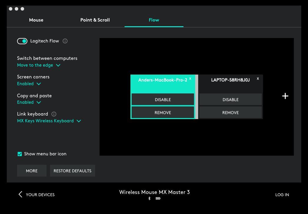 Flow lar deg dele en mus (og tastatur) med flere maskiner. I tillegg kan du klippe og lime inn tekst og bilder.