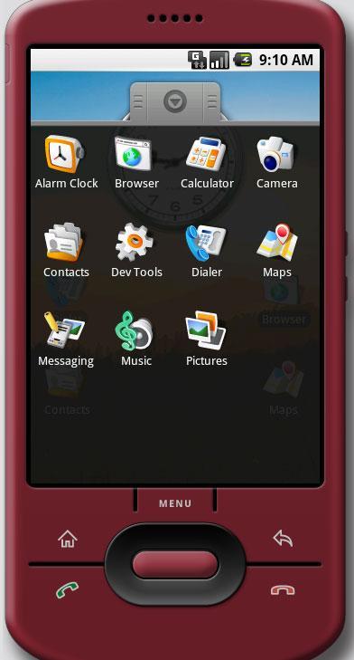 Du kan leke med menyene på Android-telefonen, og til og med installere nye programmer.
