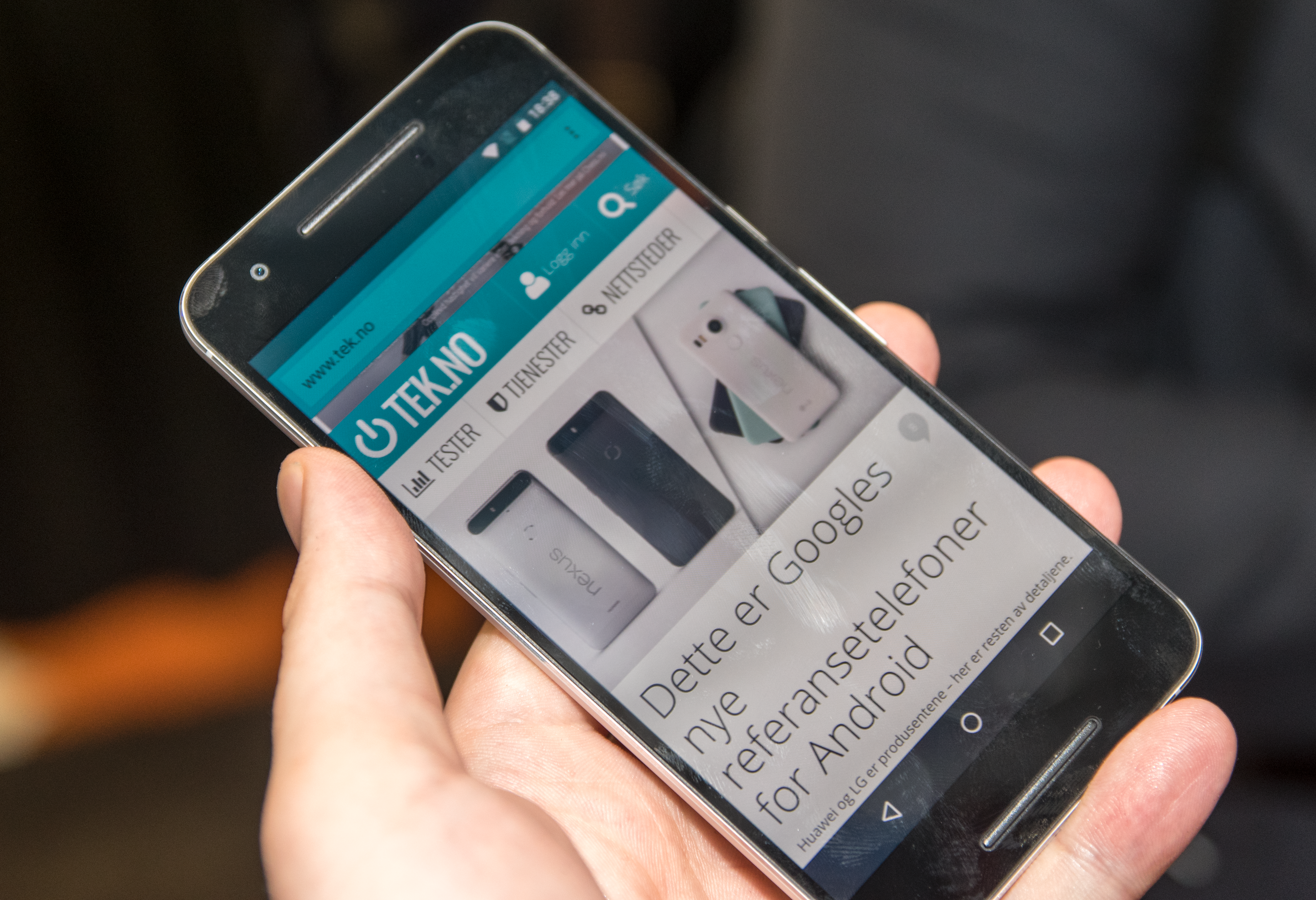 Telefonen er lynrask i bruk og har helt rene Android-menyer. Foto: Finn Jarle Kvalheim, Tek.no