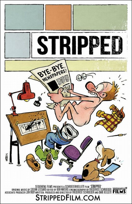 """Her er Wattersons foreløpig siste """"comic"""". Trykk for større bilde.Foto: """"Stripped"""""""