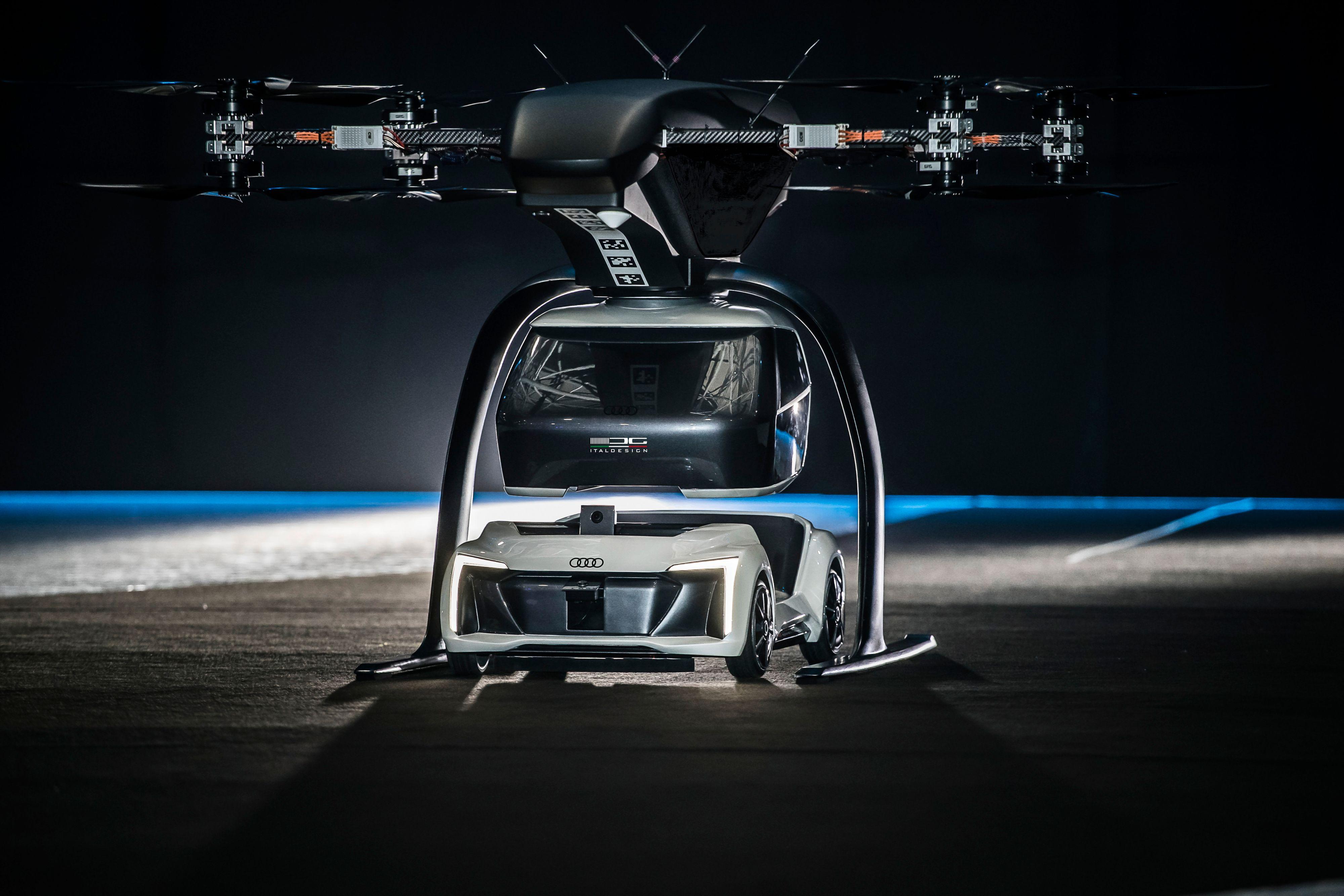 Audi og Airbus har laget dette flybilkonseptet, hvor dronedelen er avtagbar.