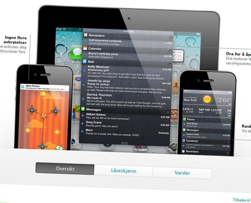 Den nye varselmenyen i iOS 5 likner mistenkelig på den vi kjenner fra dagens Android-telefoner.