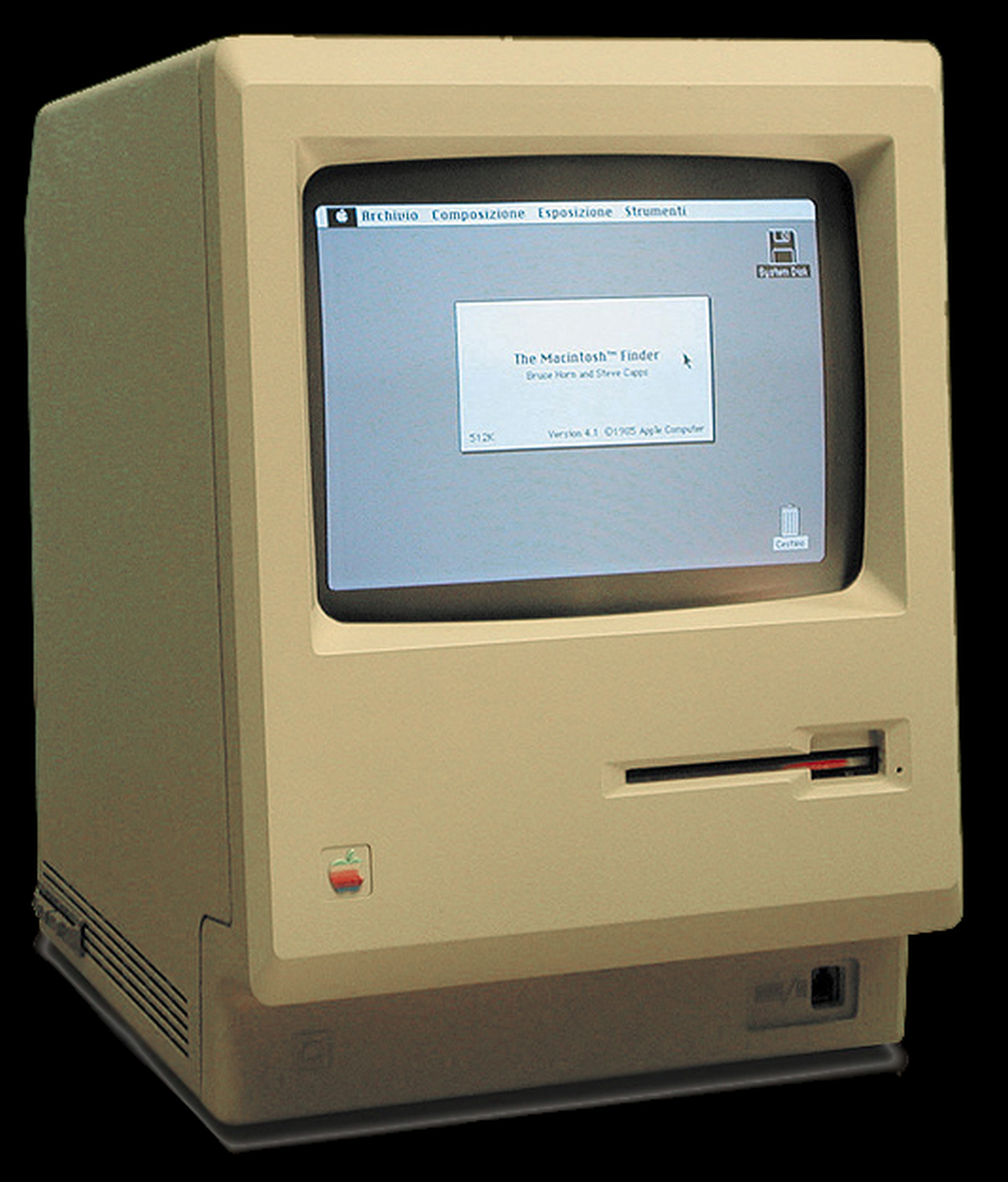 Macintosh 128k fra 1984.Foto: Wikipedia Commons
