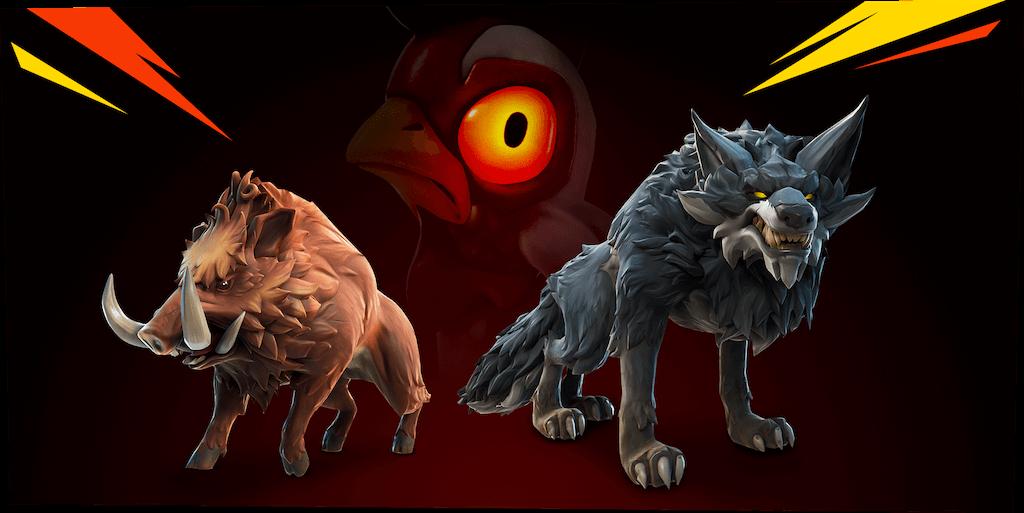 Ulver og villsvin er blant de nye dyrene.