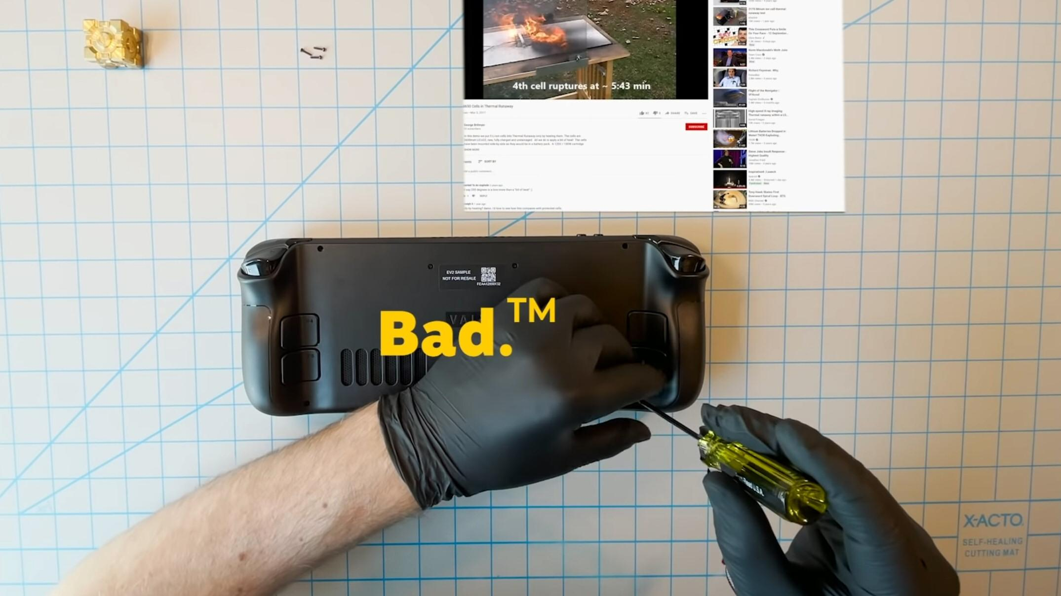 Valve har sluppet demonteringsvideo for Steam Deck