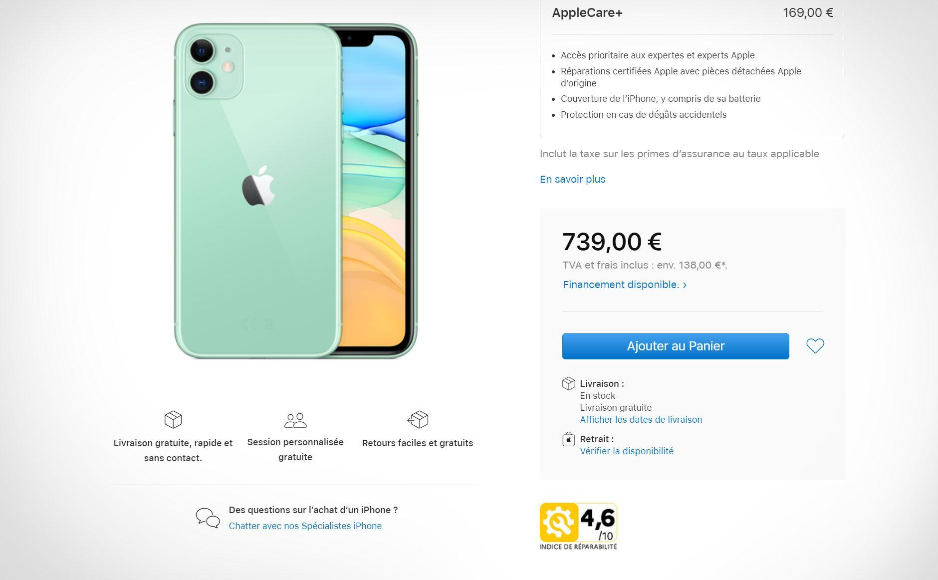 iPhone Xr får en score på bare 4,6
