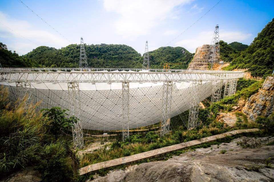 Teleskopet sett fra en annen vinkel.