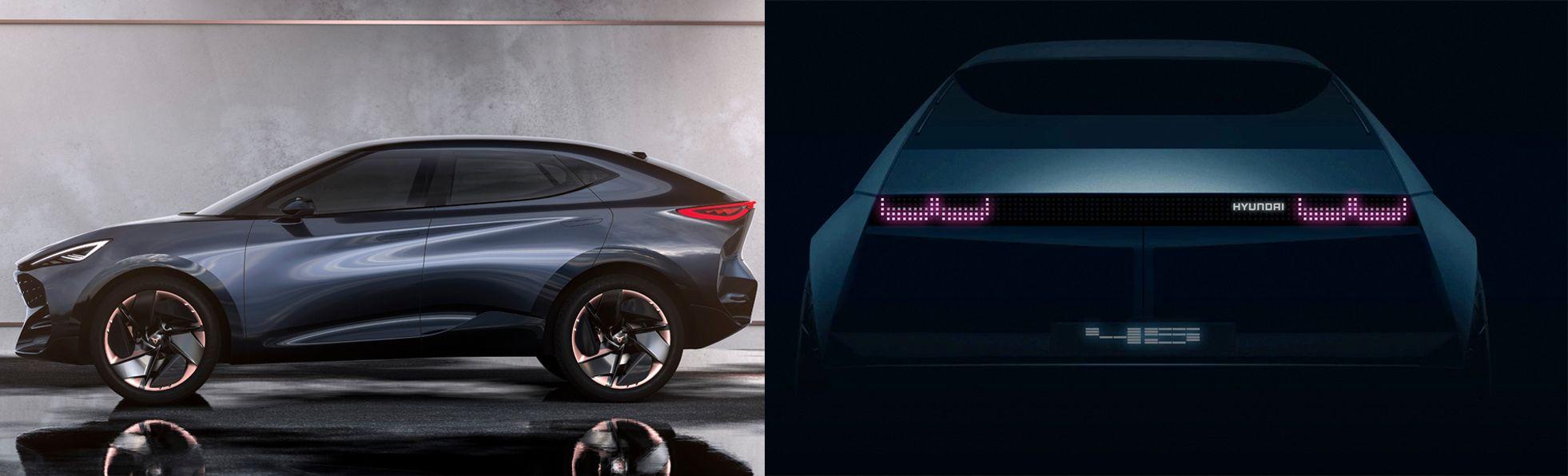Cupra-konseptet til venstre, Hyundais «45» til høyre.