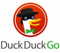 """DDG har ikke """"doodles"""" slik som Google, men det hender maskoten kler seg ut. Her i anledning Data Privacy Day 2012, den 28. januar."""