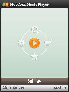 Hovedmenyen til Music Player er enkel.