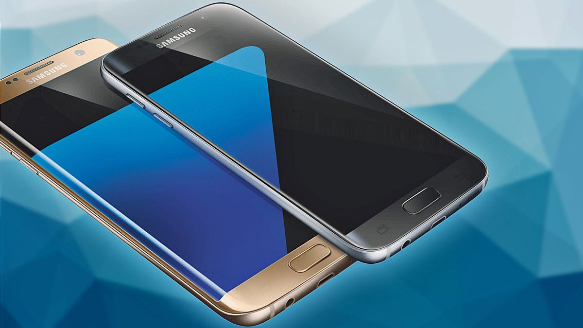 Slik skal Galaxy S7 og S7 Edge etter alt å dømme bli seende ut. Dette skal være ett av de offisielle pressebildene av telefonene.
