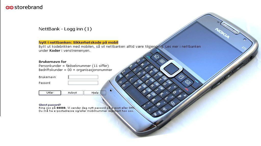 Bruk mobilen din i nettbanken