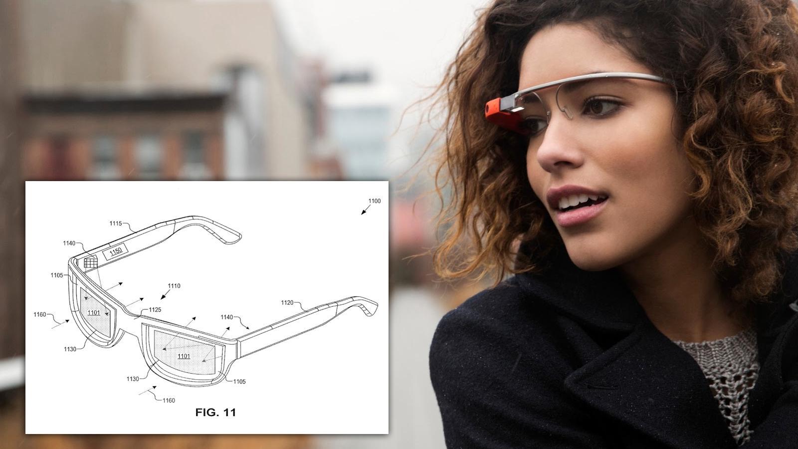 Google har levert inn patentsøknad på smartbriller med skjermen innebygget i brilleglassene.Foto: Google