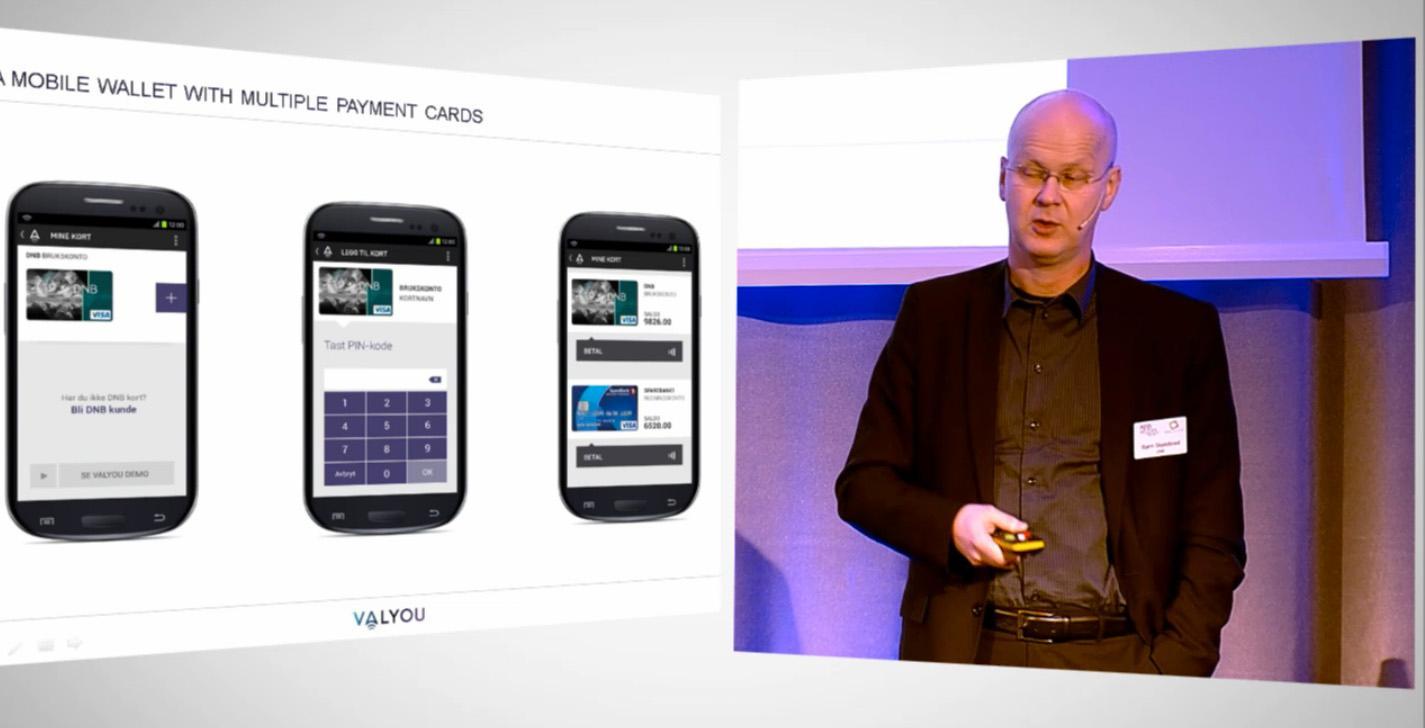 Bjørn Skjelbred i DNB viste frem Valyou på Appworks-konferansen rett før jul.