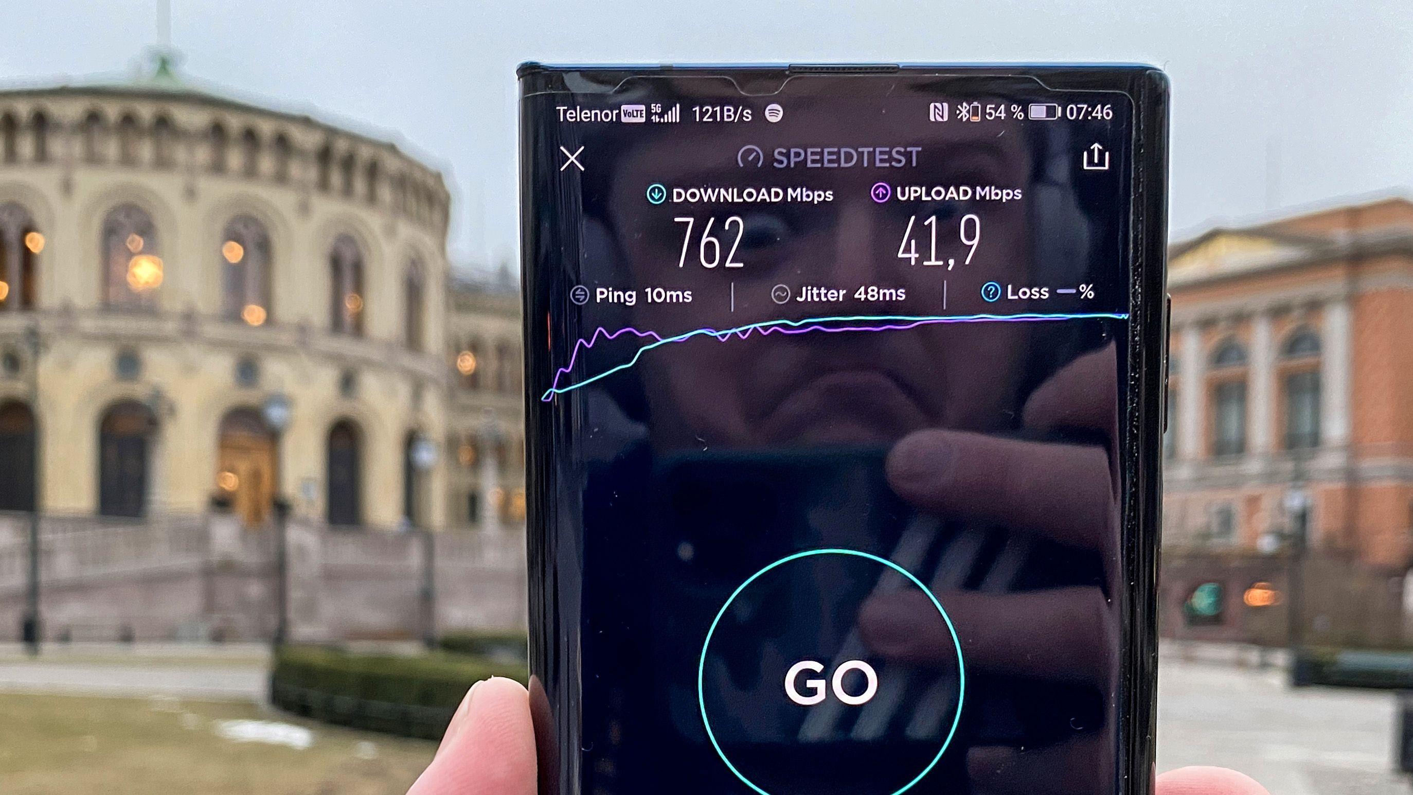 5G på en kraftmobil som Huawei Mate Xs er en imponerende opplevelse.