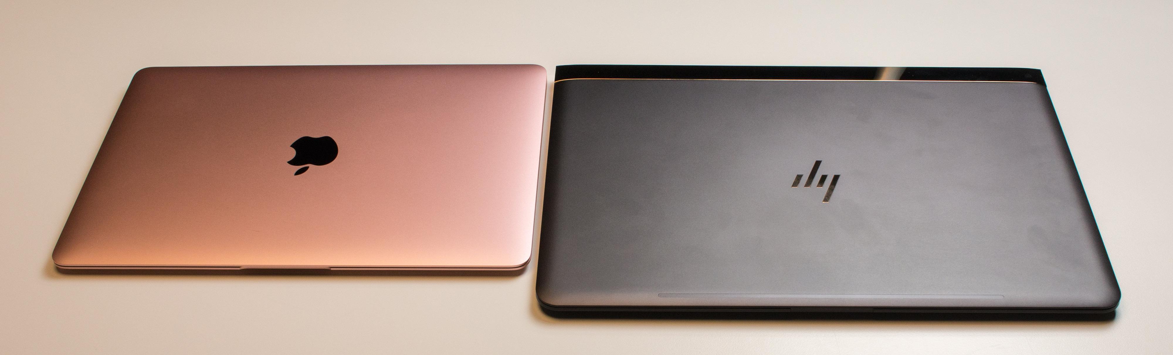 MacBook er mer kompakt, men har også en mindre skjerm enn Spectre 13.