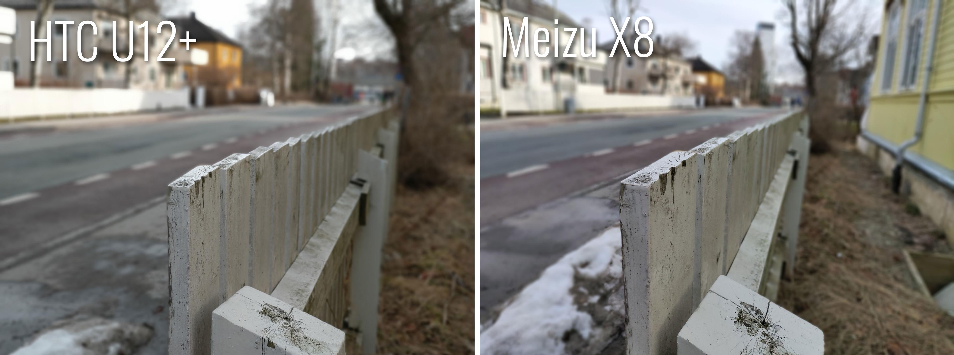Dybdebilder er Meizu X8 relativt god på, men et zoom-kamera hadde neppe skadet.