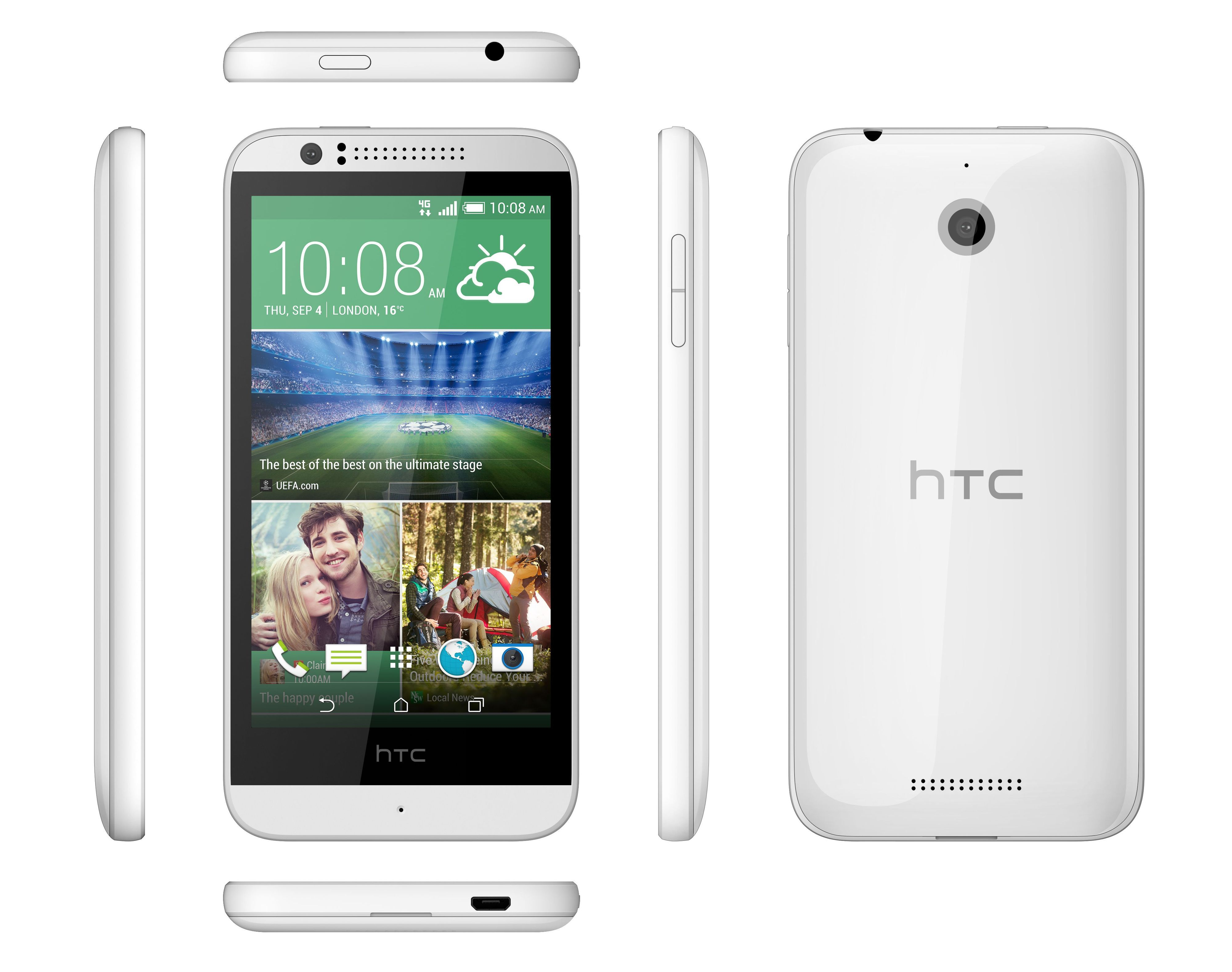 HTC Desire 510 fås i både mørk grå og hvit.Foto: HTC