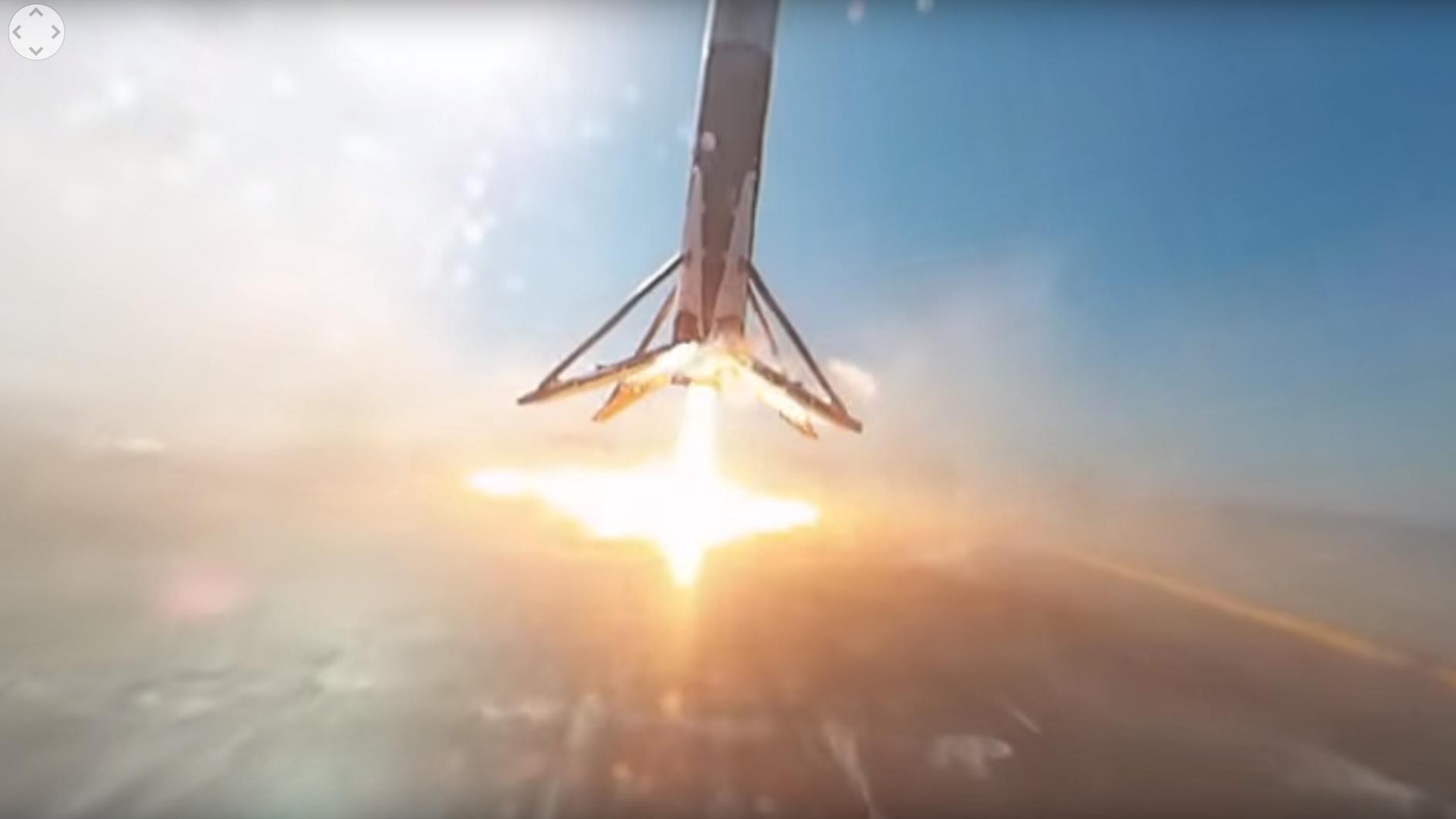 Slik så det ut da SpaceX-raketten landet på flåten