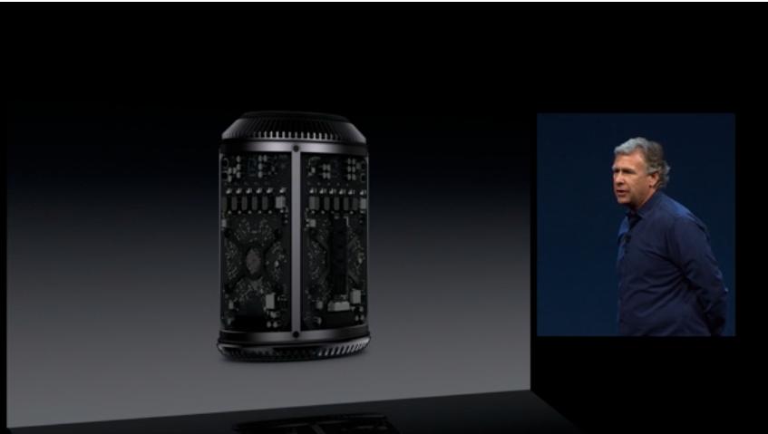 Slik ser den nye Mac Pro-en ut.