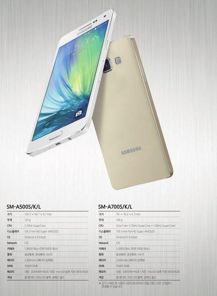 Dette skal være offisielle bilder og informasjon om Samsungs nye Galaxy A5 og A7.Foto: Samsung