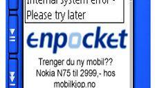 Nokia med reklame på mobilen