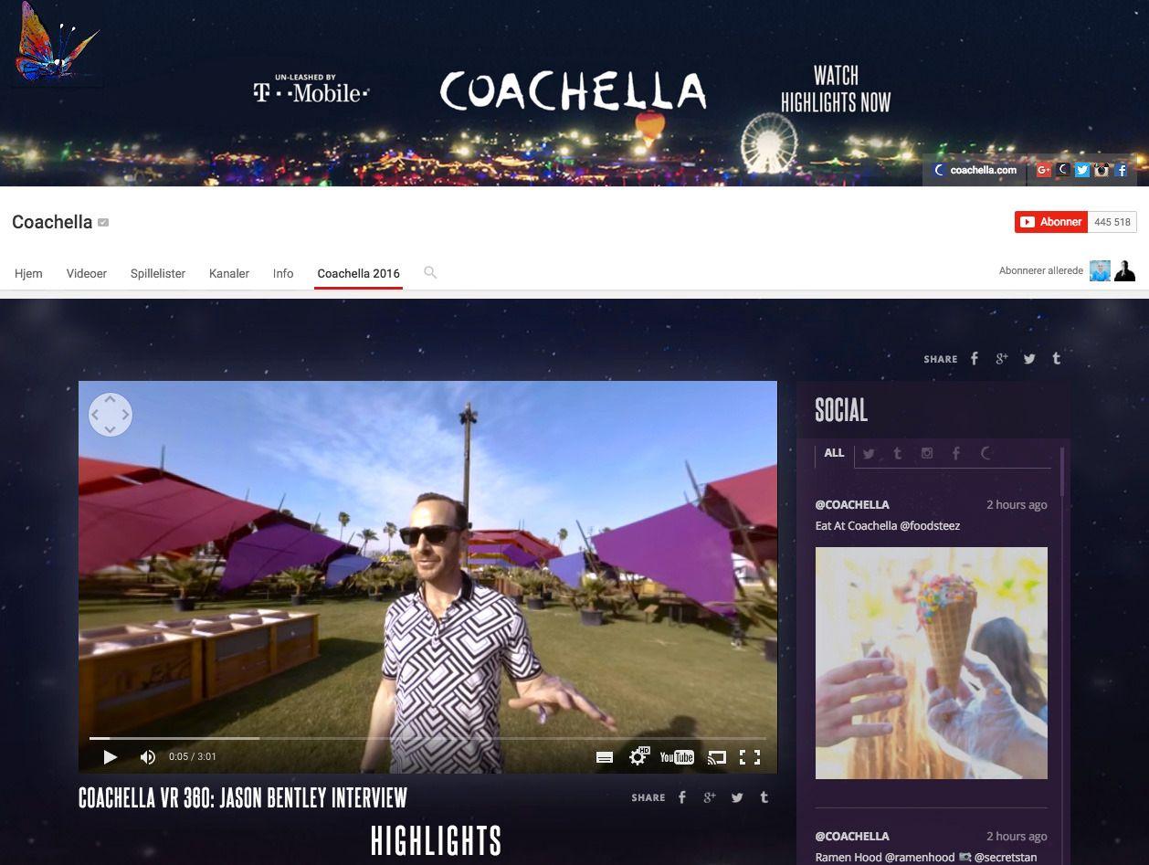 Musikkfestivalen Coachella vil direktesende enkelte konserter i 360-graders VR.