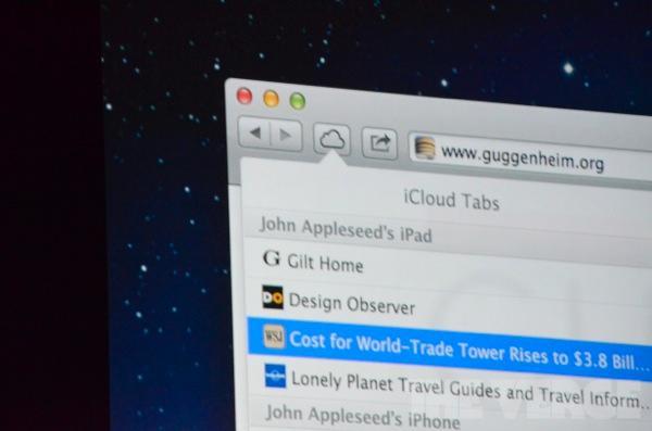 iCloud Tabs synkroniserer fanene dine på tvers av platformer.
