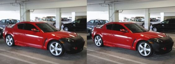 Slik ser bildet ut før og etter Microsofts bevegelsesassisterte fotofiks.