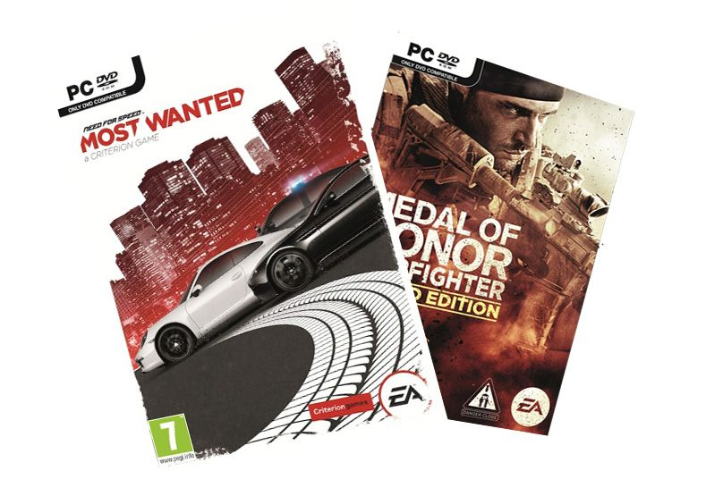 Need for Speed: Most Wanted og Medal of Honor: Warfighter.Foto: Electronic Arts