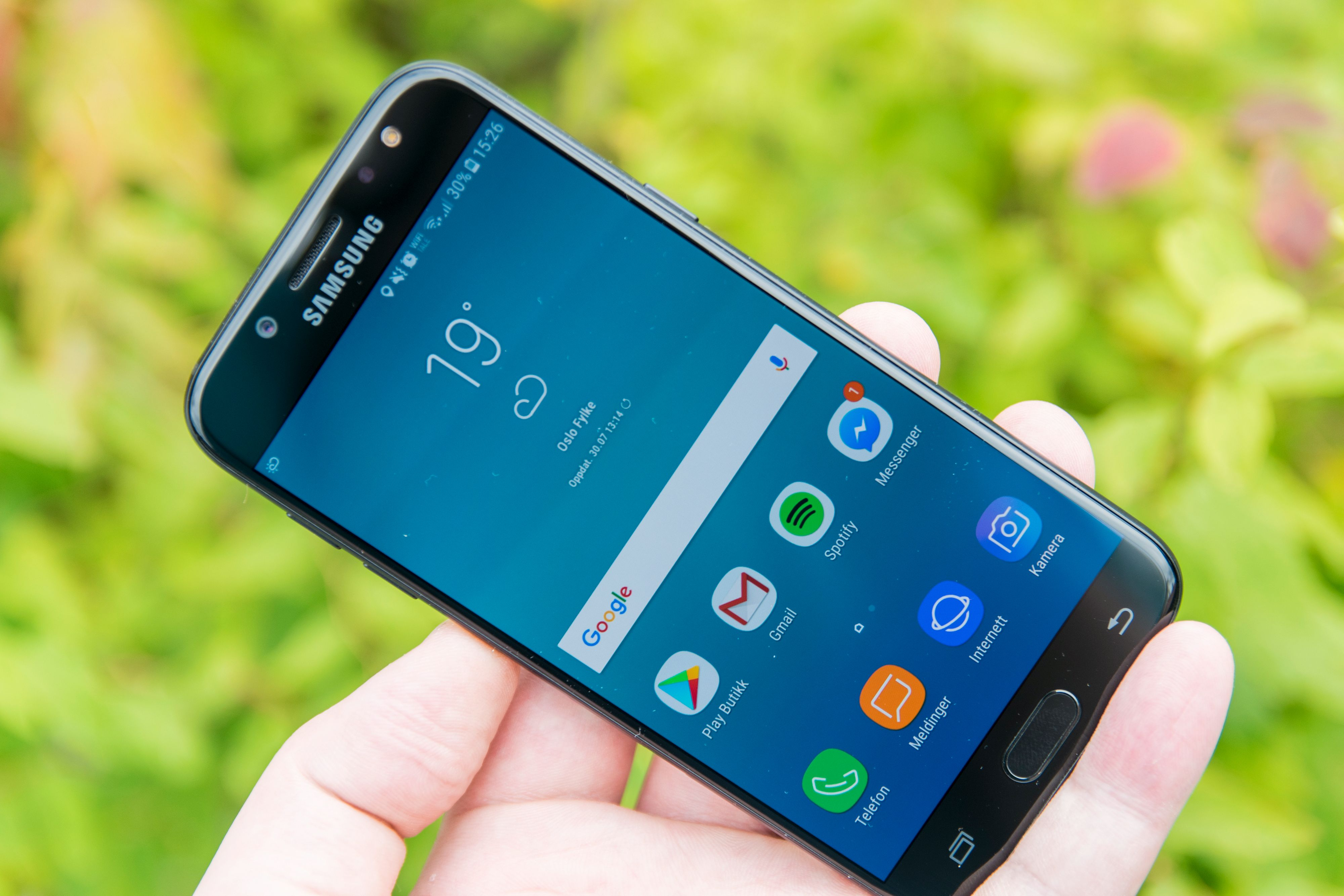 Menyer og ikoner er de samme som på Galaxy S8, men ytelsen er dessverre ikke like god..