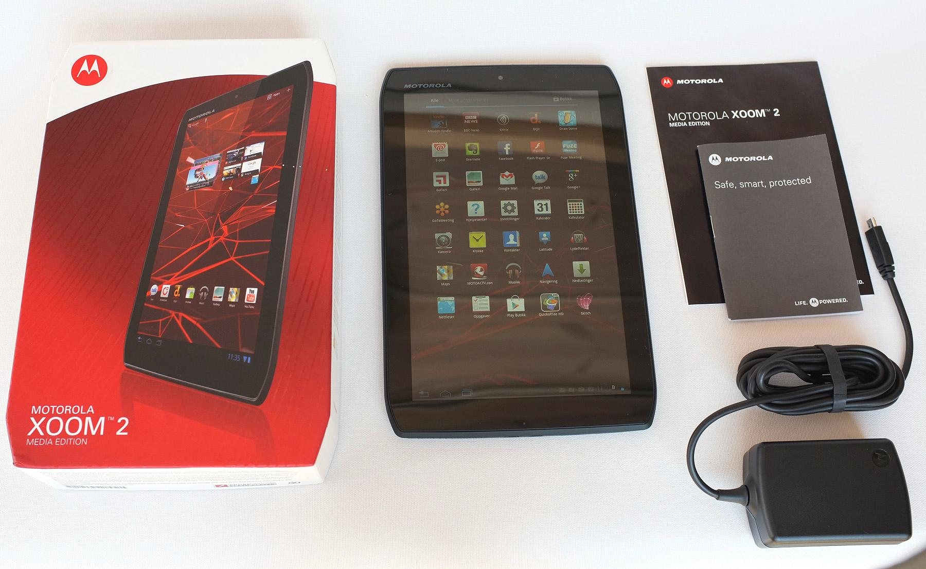 Motorola Xoom 2 Media Edition salgspakke.Foto: Audun M. Solheim