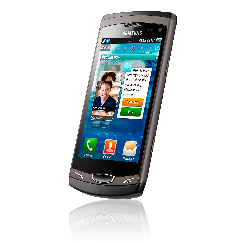 Samsung Wave II er utformet som en vanlig trykkfølsom mobil.